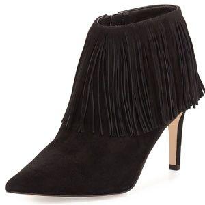 Sam Edelman Shoes - ☻Sam Edelman Fringe Black Pointy Booties